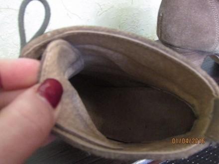 Женские натуральные замшевые ботиночки 38 размера, внутри натуральная кожа. На д. Сумы, Сумская область. фото 6