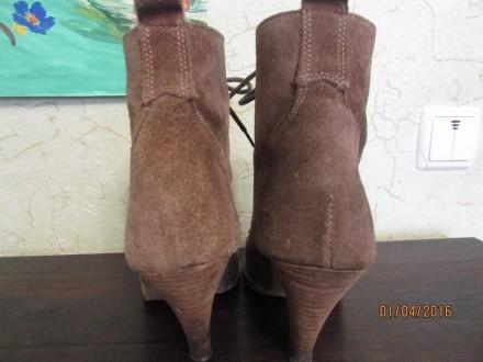 Женские натуральные замшевые ботиночки 38 размера, внутри натуральная кожа. На д. Сумы, Сумская область. фото 5