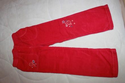 Новые утепленные штанишки F&F (брюки на подкладке) на 6-7 лет. Запоріжжя. фото 1