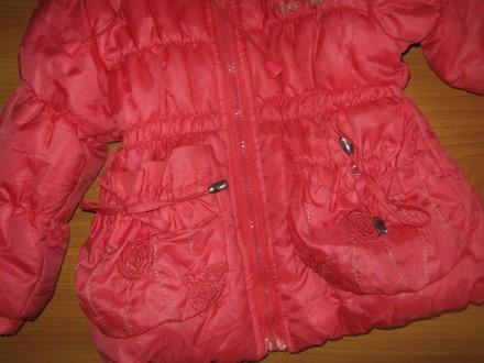 Класна курточка!!! 2-3 р. 92-98 см весна-осінь фліс+синтепон довж.-43 см по. Бурштын, Ивано-Франковская область. фото 3
