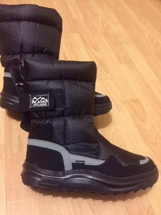 Мужские дутики Аляска черные - отличный выбор обуви для холодной поры года. Эта . Киев, Киевская область. фото 6