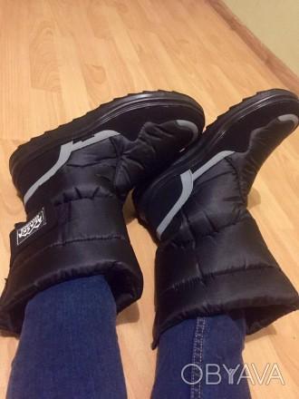 Мужские дутики Аляска черные - отличный выбор обуви для холодной поры года. Эта . Киев, Киевская область. фото 1