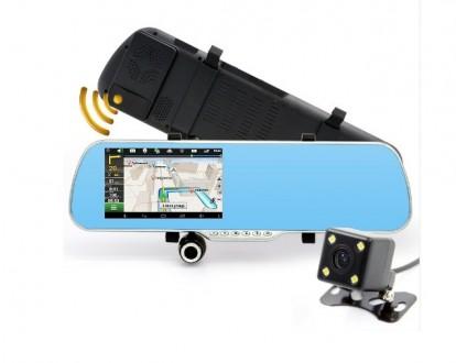 Автомобильное зеркало видеорегистратор, GPS навигатор, Андроид. Бровары. фото 1