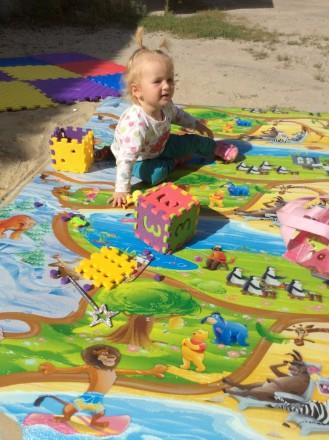 Детский игровой развивающий коврик для ползания детей Мадагаскар. Харьков. фото 1