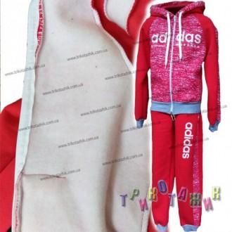 Спортивный костюм утеплённый для девочки Adidas. Хмельницкий. фото 1
