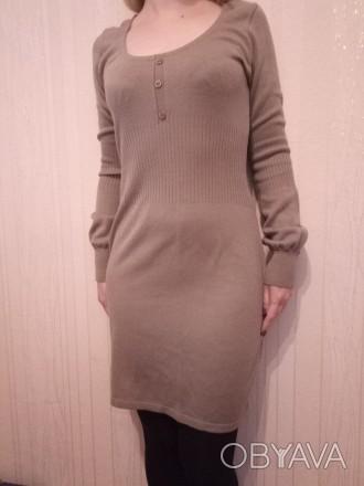 сукня в гарному стані, тепленька, машинна вязка, довжина до коліна, купляла в бо. Луцьк, Волинська область. фото 1