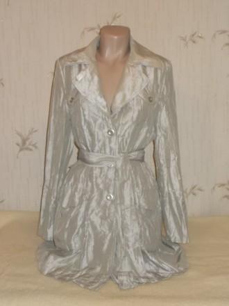 Продам лёгкий летний стильный плащик из жатой ткани размер 46 в идеальном состоя. Чернигов, Черниговская область. фото 3