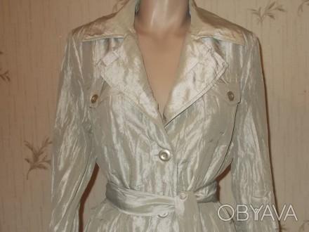 Продам лёгкий летний стильный плащик из жатой ткани размер 46 в идеальном состоя. Чернигов, Черниговская область. фото 1