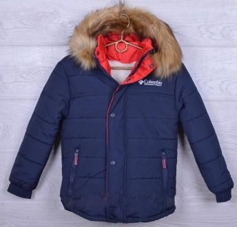 Модная Зимняя теплая куртка на мальчика подростка Columbia 6-13 лет. Мариуполь. фото 1
