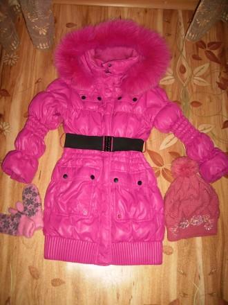 Пальто -пуховик для девочки. Горишные Плавни. фото 1