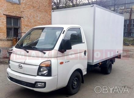 Вантажівка Hyundai H 100 з промтоварним фургоном - це легкий комерційний транспо. Черкассы, Черкасская область. фото 1