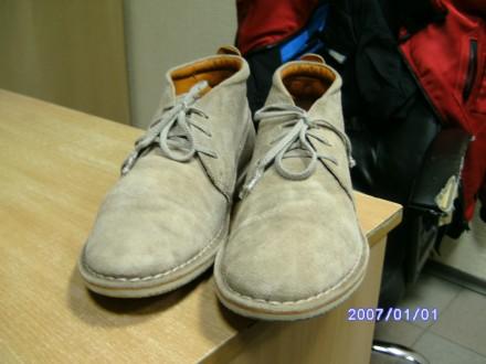 продам фирменные мужские   замшевые ботиночки немецкой фирмы ECCO. Киев. фото 1