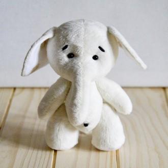 Мягкая игрушка  из плюша хенд мейд слоненок Сима. Киев. фото 1