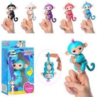 Обезьянка на палец Fingerlings Monkey 6 функций. Южный. фото 1