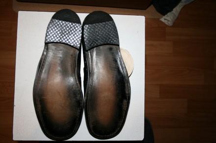 Цена:450 грн.  Туфли кожанные мужские летние 27 размер, черные одна пара.Новы. Одеса, Одеська область. фото 2