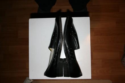 Цена:450 грн.  Туфли кожанные мужские летние 27 размер, черные одна пара.Новы. Одеса, Одеська область. фото 5