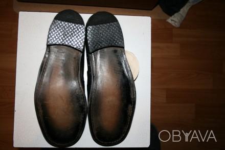 Цена:450 грн.  Туфли кожанные мужские летние 27 размер, черные одна пара.Новы. Одеса, Одеська область. фото 1