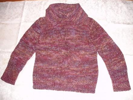 Свитер/светр теплий 48 р., жіночий, в фіолетових тонах, в'язаний. Львов. фото 1