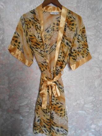Стилный халатик и пеньюарб, золото, леопард, распродажа, 48 размер. Одесса. фото 1