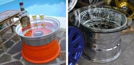 Легкосплавные диски колес авто. Распродажа. Стол,тумба,люстра  из автодисков. Днепр. фото 1