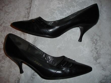 Туфли/туфлі 38-38,5 р.(5 1/2 Е) Саламандер, чорні, шкіряні, добротні. Львов. фото 1