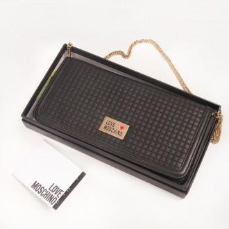 Новый кошелек клатч Love Moschino, оригинальный подарок. Киев. фото 1