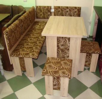 Кухонный уголок Аристократ кухонный стол раскладной, диванчик, 2 табурета. Киев. фото 1