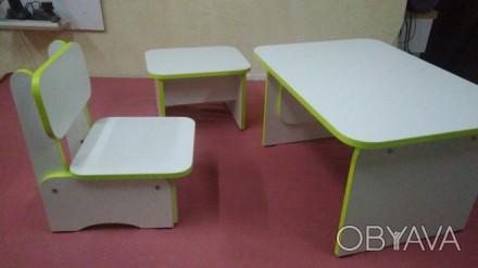 Стол и стульчик для занятия ребёнка,а также табуретка для взрослого.Возраст ребё. Каменское, Днепропетровская область. фото 1