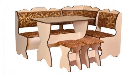 Кухонный уголок Комфорт кухонный стол, угловой диван, 2 табурета. Киев. фото 1