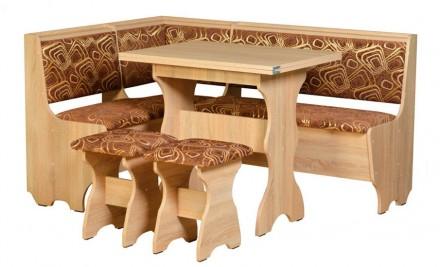 Кухонный уголок Атаман кухонный стол раскладной, диванчик, 2 табурета. Киев. фото 1