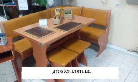 Кухонный уголок Маркиз кухонный стол раскладной, угловой диван, 2 табурета. Киев. фото 1