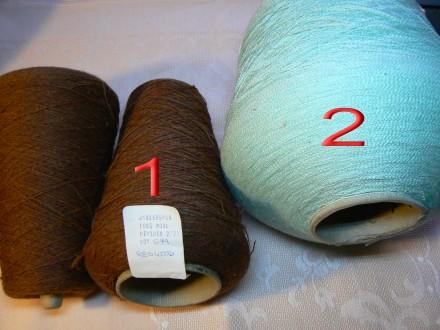 Нитки для ручного и машинного вязания, ПРЯЖА, БЯЗЬ. Днепр. фото 1