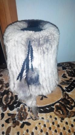 Продам шапочку из кролика рекса. Приморск. фото 1