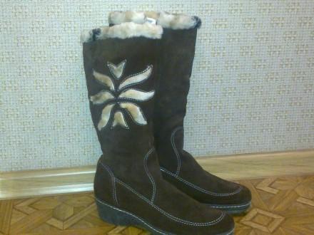 Продам женские зимние сапоги из натуральной замши. Измаил. фото 1