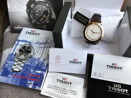 Продам оригинальный швейцарский мужской золотой хронометр фирмы Тissot, модель H. Киев, Киевская область. фото 6