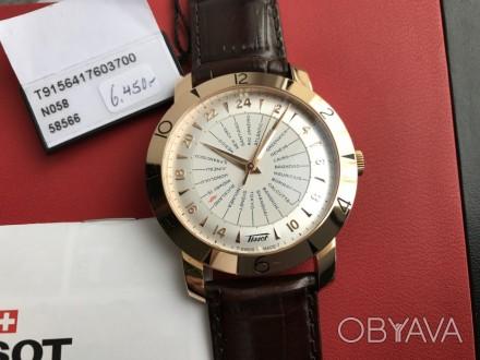Продам оригинальный швейцарский мужской золотой хронометр фирмы Тissot, модель H. Киев, Киевская область. фото 1