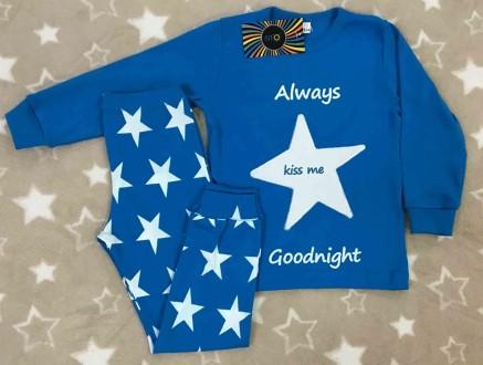 Трикотажная пижама для мальчика Звезды. Днепр. фото 1