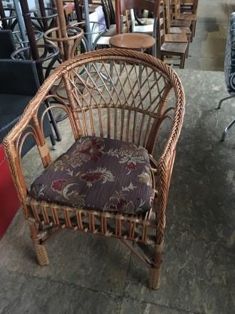 Кресло из натурального ротанга б/у. Киев. фото 1