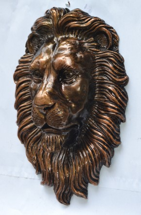 Голова льва на ворота. Коломыя. фото 1