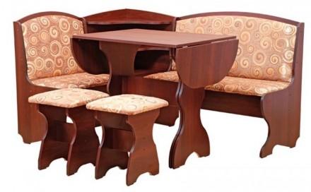 Кухонный уголок Виконт кухонный стол раскладной, угловой диван, 2 табурета. Киев. фото 1