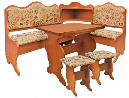 Кухонный уголок Корнет кухонный стол раскладной, угловой диван, 2 табурета. Киев. фото 1