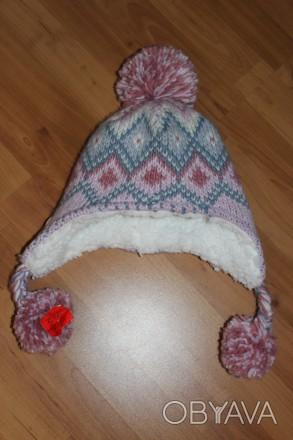 Тепла зимова шапка для дівчинки 4-8 років, нова, без зав'язок. більше на https:. Ровно, Ровненская область. фото 1