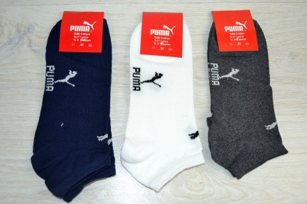 Мужские носки Puma синие, белые, серые пума. Днепр. фото 1