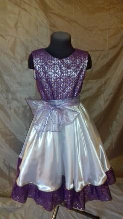 Нарядное платье на рост 134 см.. Одесса. фото 1