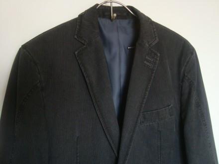 новый стильный пиджак размер L блейзер джинсовый. Ровно. фото 1
