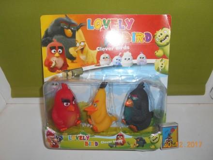 Набор больших фигурок Angry Birds, 3 шт, пищалка, на листе, в наличии 2 вида  ht. Миргород. фото 1