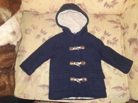 Продам модное пальтишко на натуральной овчине на возраст 12 - 18 месяцев. Чернигов. фото 1