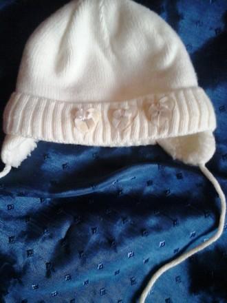 Теплая зимняя шапка (6 мес-год). Срібне. фото 1