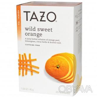 Tazo Wild Sweet Orange Herbal Tea - Травяной чай сладкий апельсин Травяной чай . Кривой Рог, Днепропетровская область. фото 1