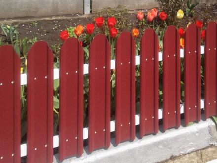Штакетный забор металлический. Киев. фото 1